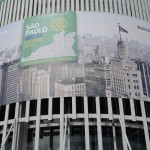 2015年サンパウロ国際大会の会場であるアニエンビパビリオンです。 6月4日の朝撮りました。