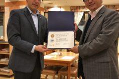 原田会員が Paul Harris Fellow を受賞しました